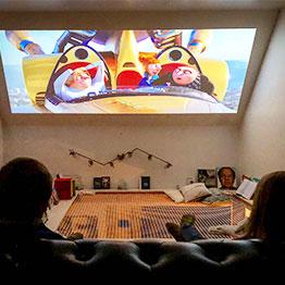 Schaffen Sie sich eine gemütliche Kinoecke mit einem Wohnnetz