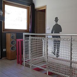 Sicherheitsnetz für die Treppe
