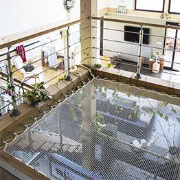 Ein angesagtes Loft mit Mezzanin-Netz
