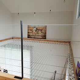 Dekoidee: Kinderzimmer mit Riesenhängematte