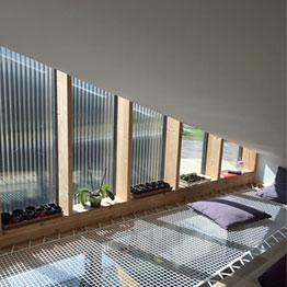 Wohnnetz über einem Wohnzimmer